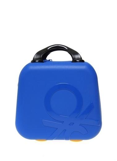 Benetton Makyaj Çantası Mavi